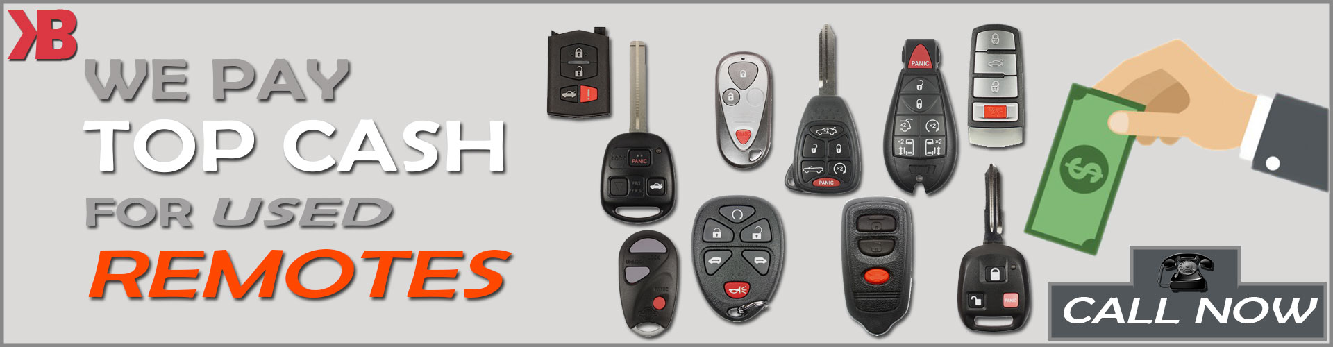 We Buy Used Automotive Keyless Remotes - Key Booth